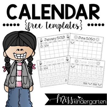 Free Calendar Templates 2019.