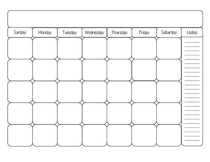 blank month calendar clipart #11.