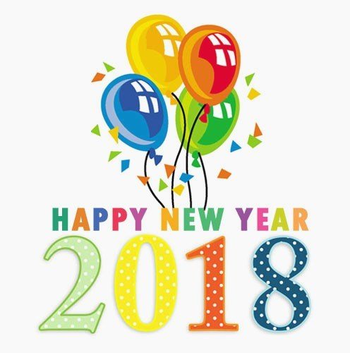 Happy New Year 2018 clipart images free clip art banner for new.