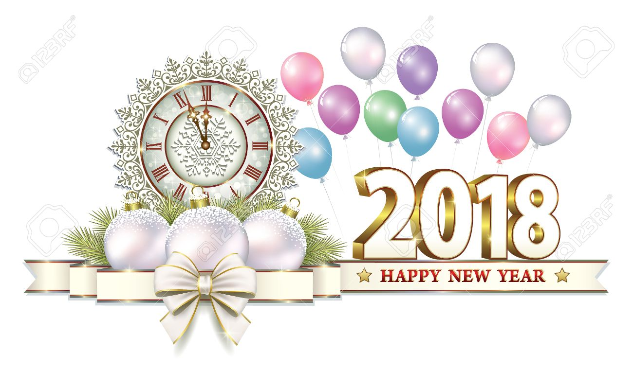 Download Free png Postcard Happy New Year 2018 Royalty Free.