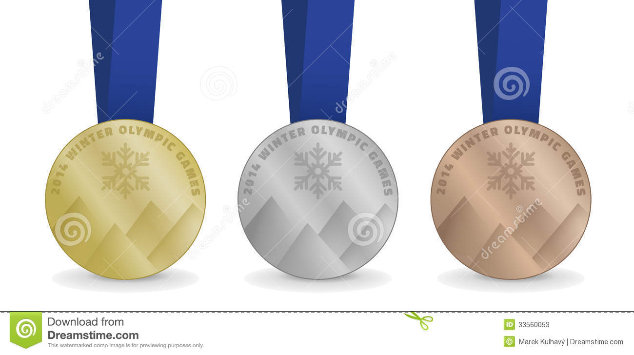 Winter Olympics Medals Clipart.