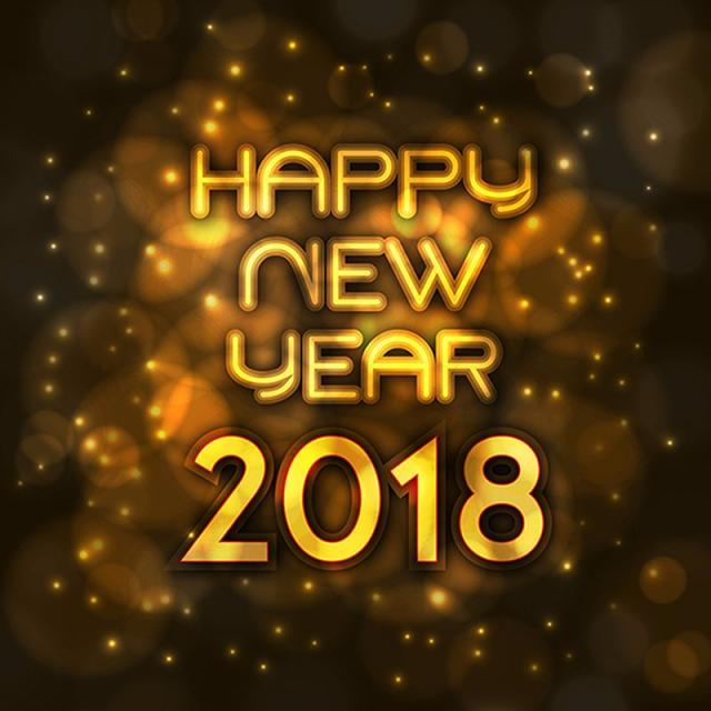 Happy New Year 2018 Background, New, Year, Background PNG and Vector.