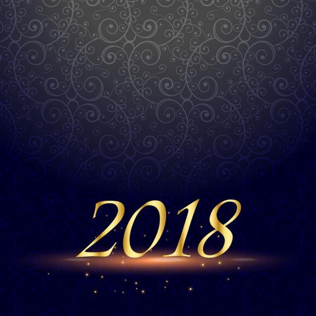 Premium 2018 Happy New Year Design Background, New Vector, 2018, New.