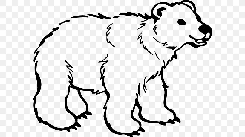 Polar Bear American Black Bear Drawing Clip Art, PNG.