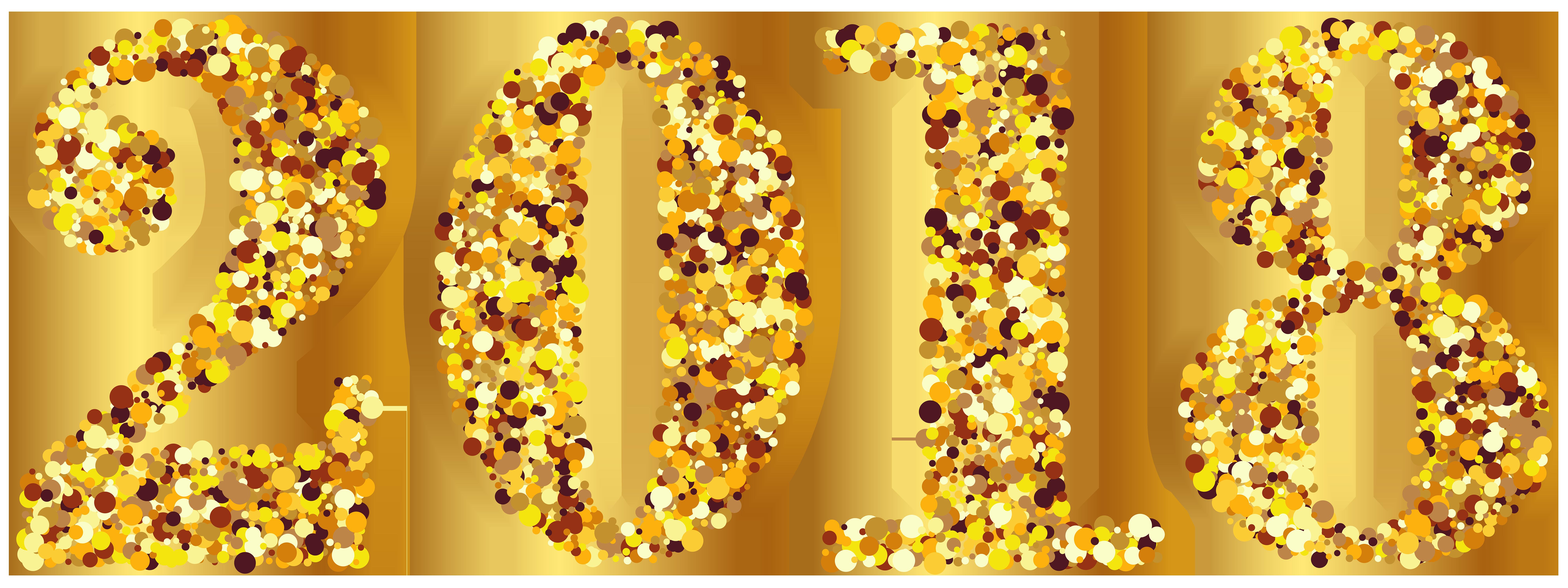 2018 Gold Transparent Clip Art Image.