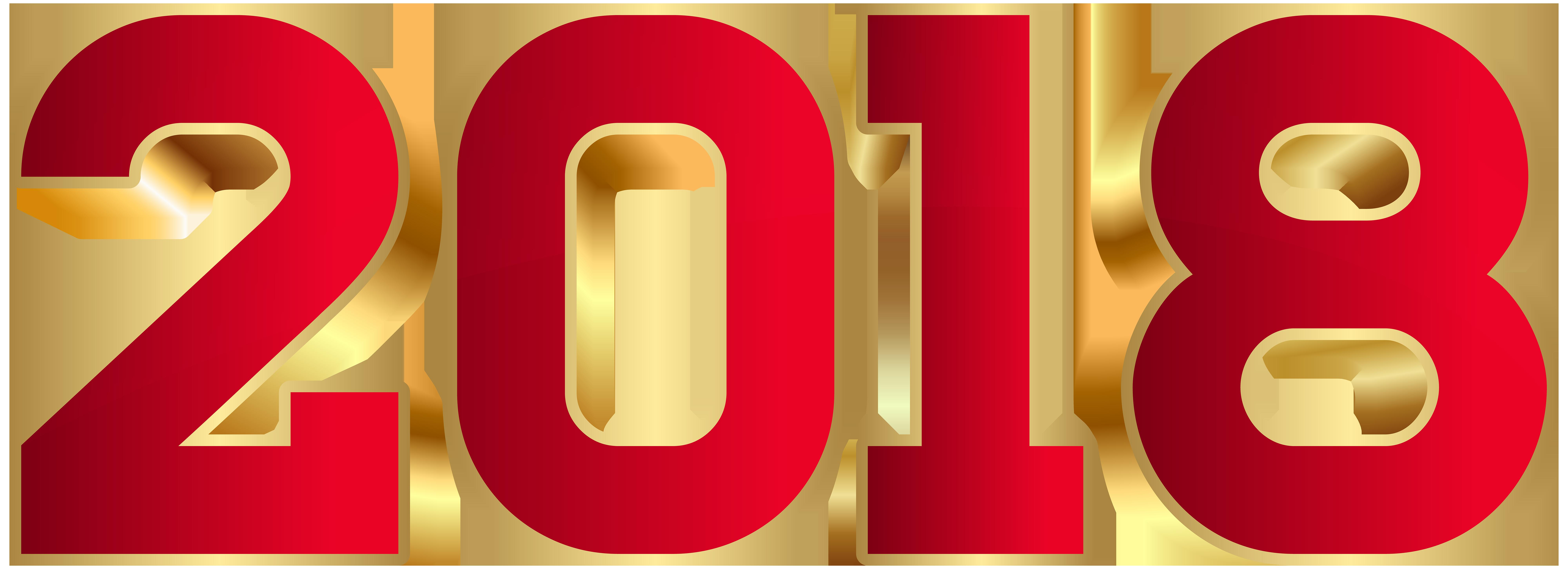 2018 Red Transparent PNG Clip Art.