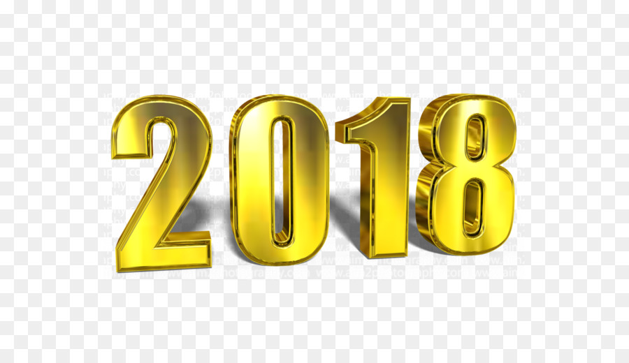 Free Happy New Year 2018 Transparent Background, Download.