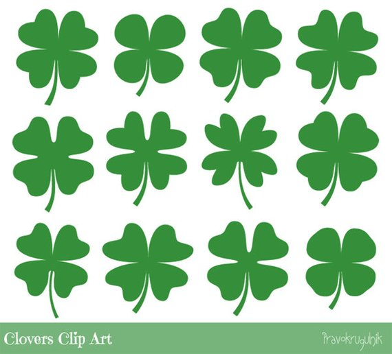 Green clover clipart, Four leaf clover clipart, Cute.