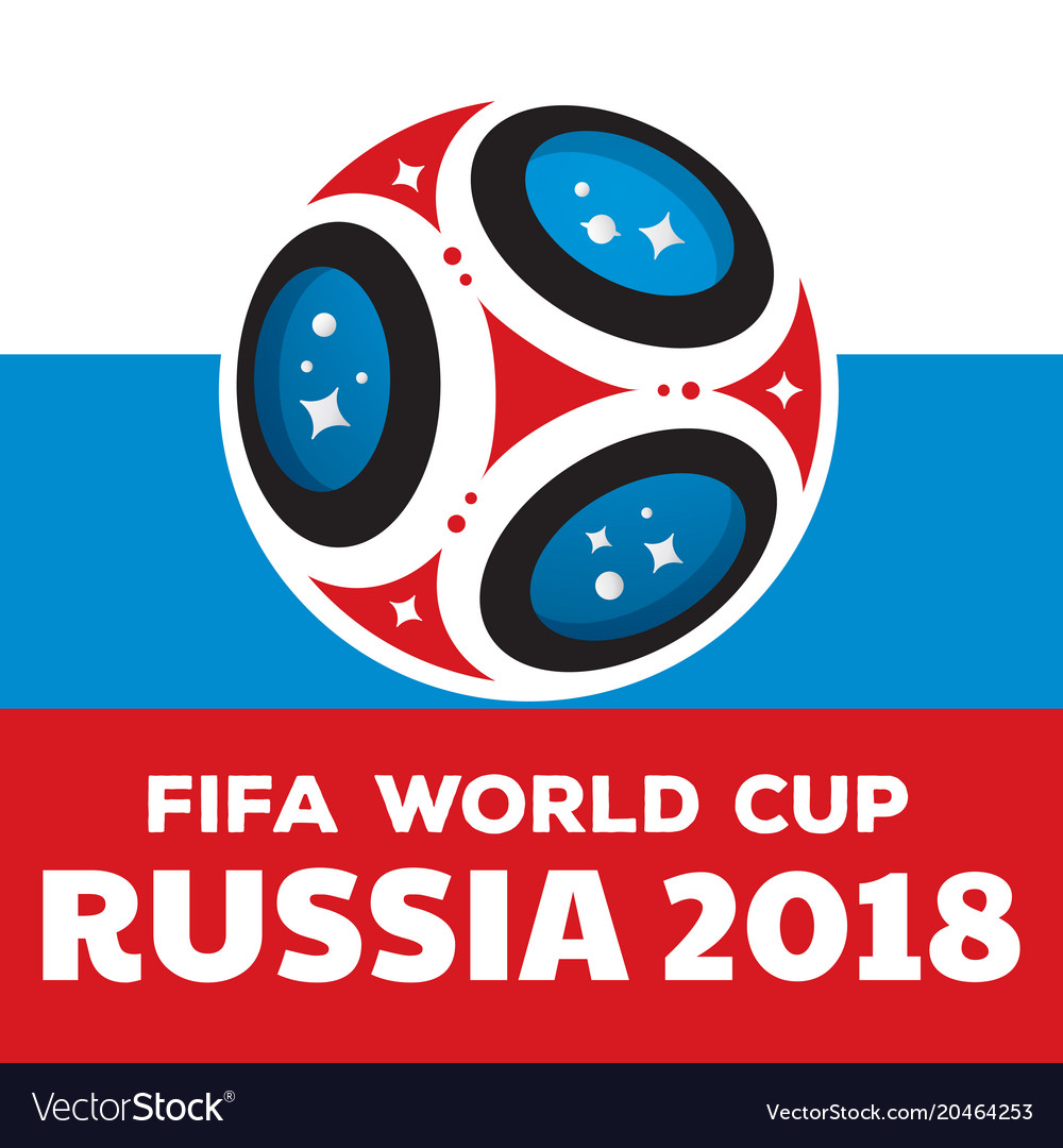 Russia world cup 2018 with flag.