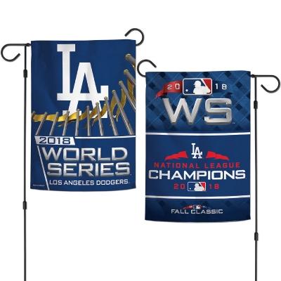 Los Angeles Dodgers 2018 World Series Logo Garden Flag.