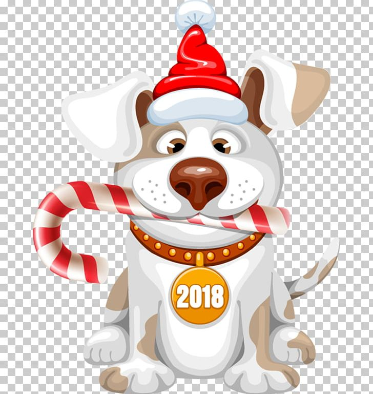 Dog New Year Christmas PNG, Clipart, 2018, Ado, Animals.