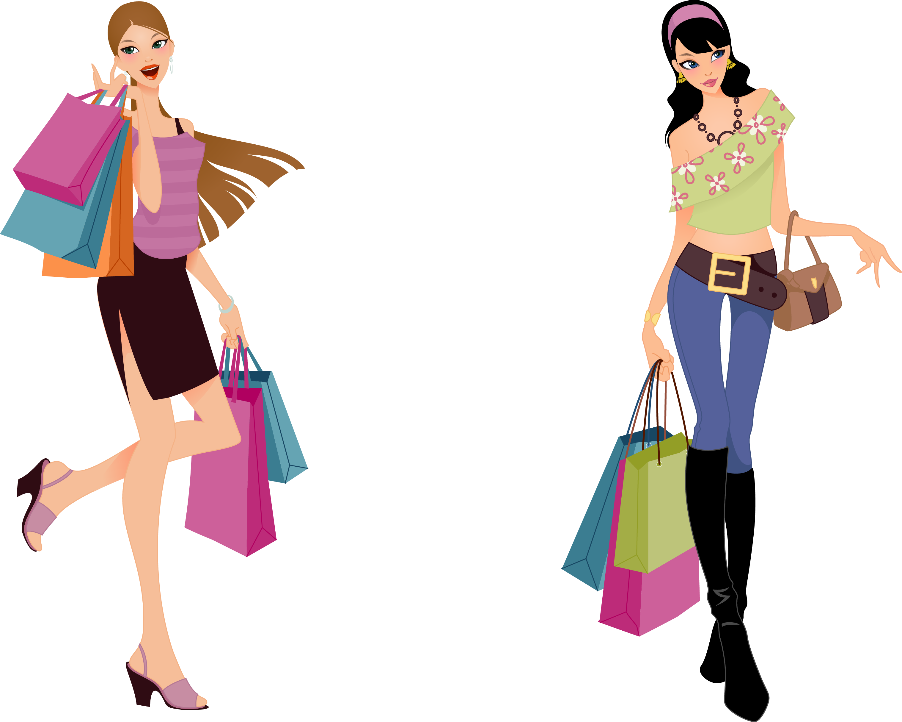 Shopping clipart design fashion Transparent pictures on F.