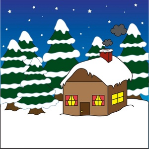 Snow covered house clipart 1 » Clipart Station.