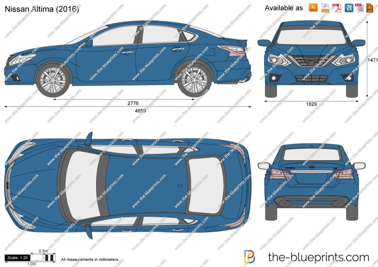 Nissan Altima vector drawing.