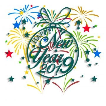 New Year 2019 Banner Vector.