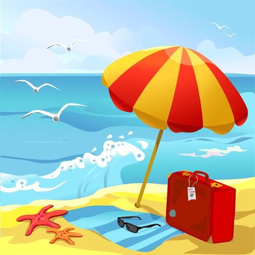 Beach clipart summertime, Beach summertime Transparent FREE.