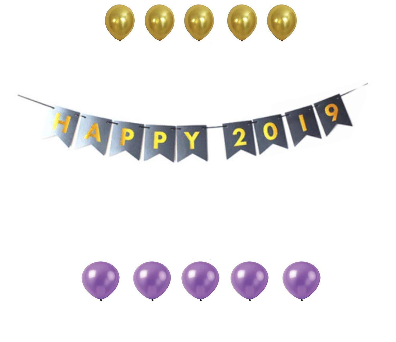Amazon.com: GrantParty Happy 2019 Banner Happy New Year.