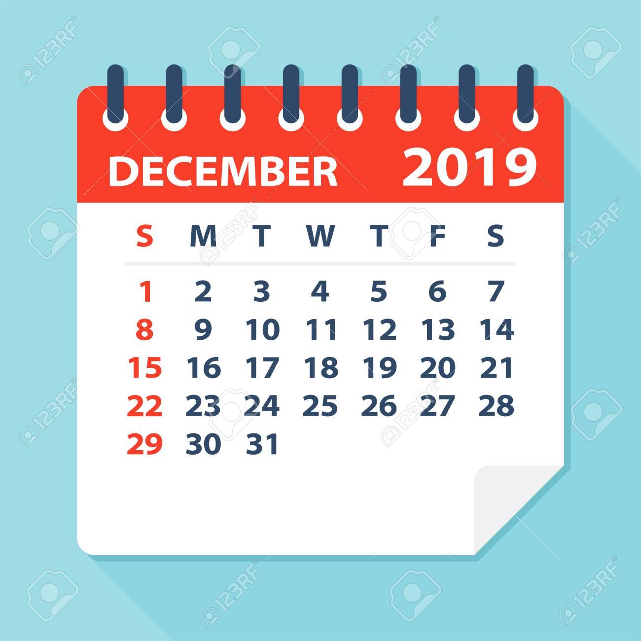 December 2019 Calendar Clipart.