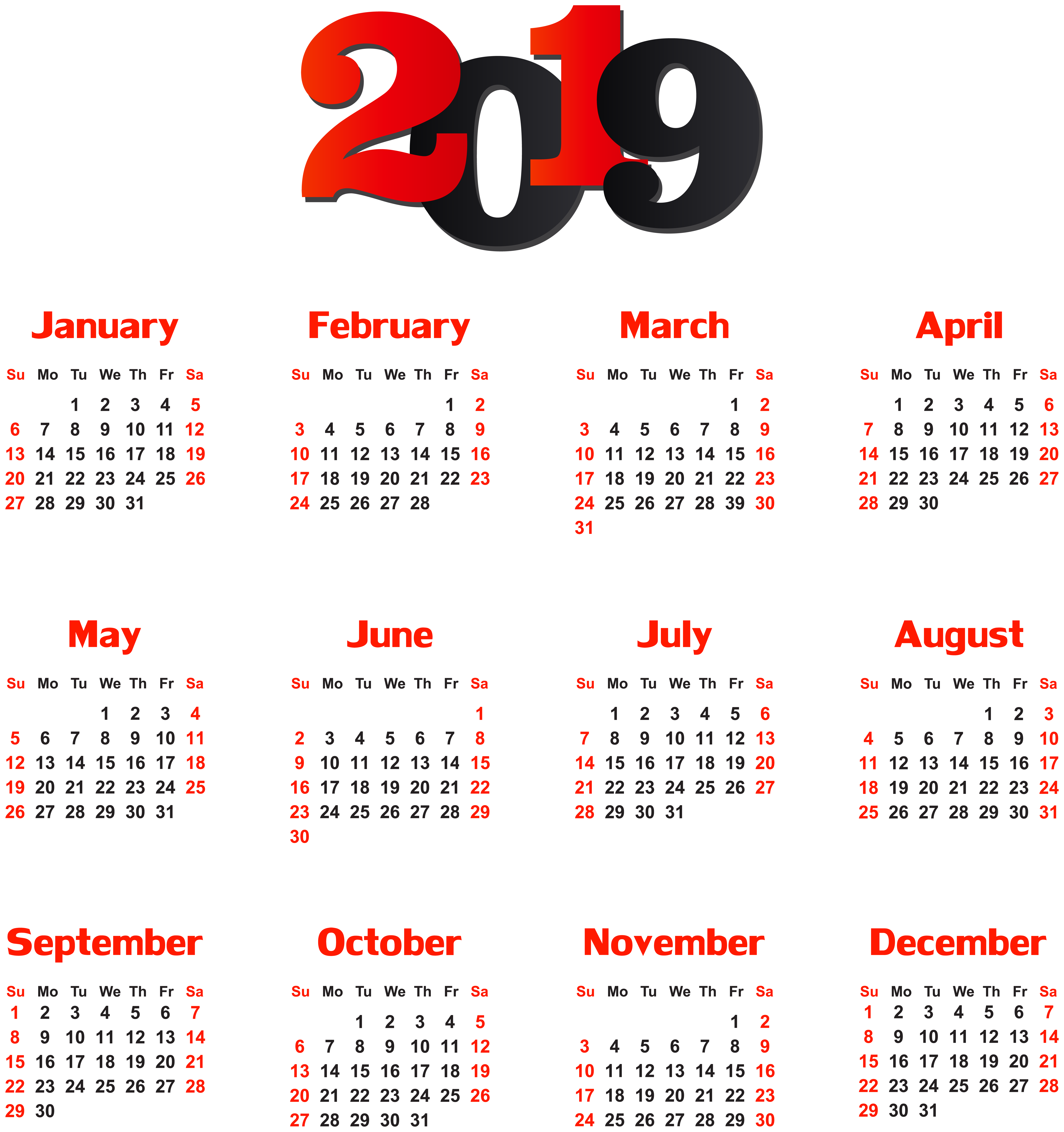2019 calendar clipart red february clipart images gallery.