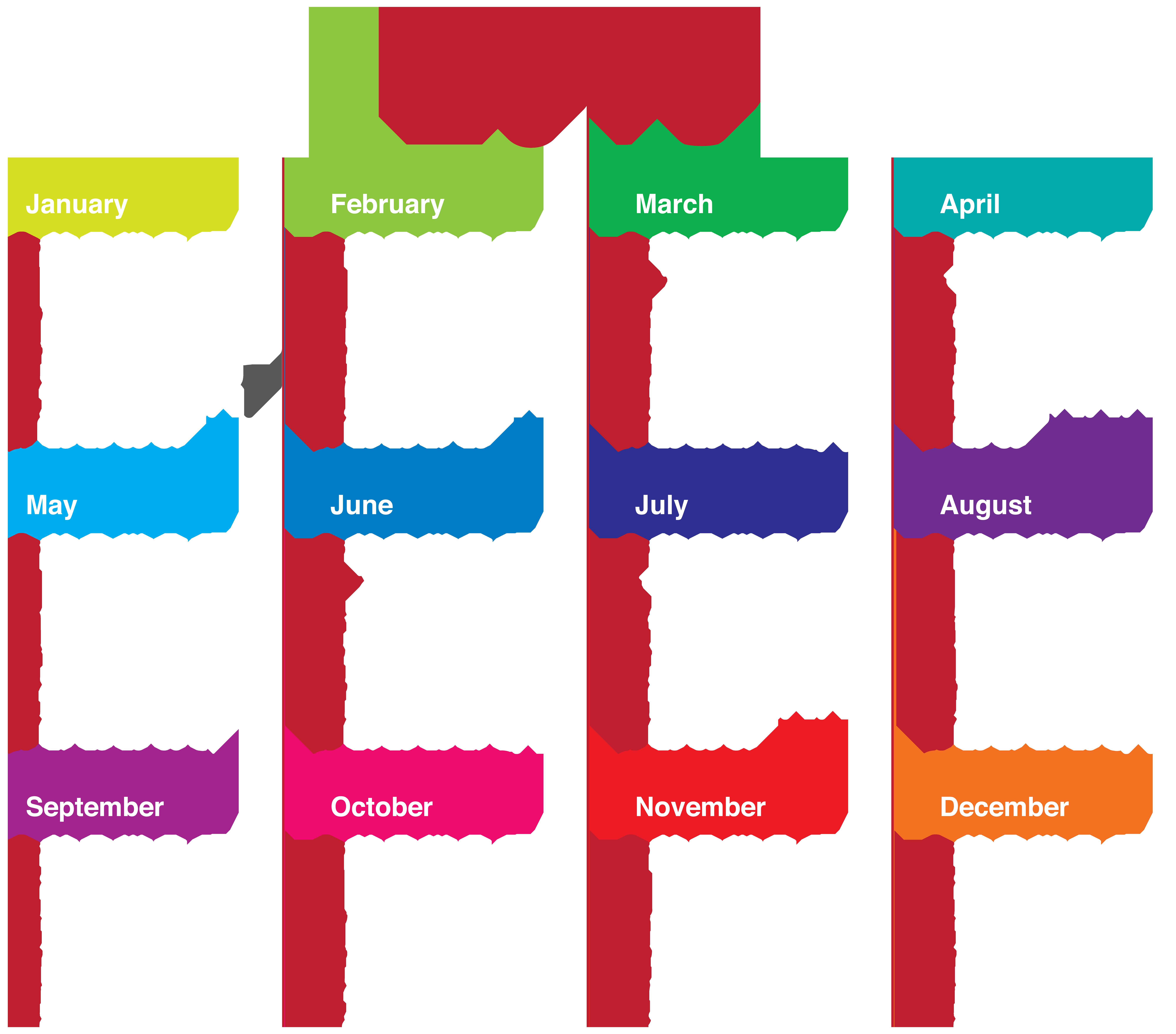 Calendar New Year Clip art.
