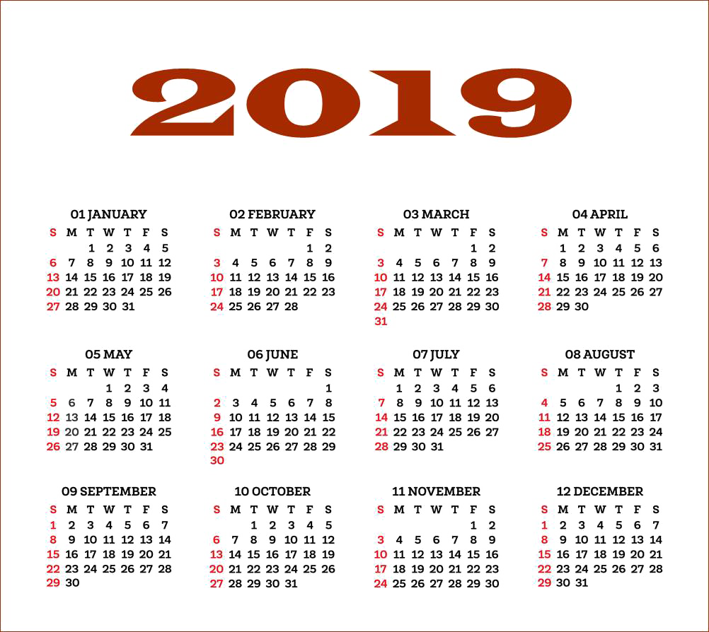 2019 Indian Calendar PNG Free Download.