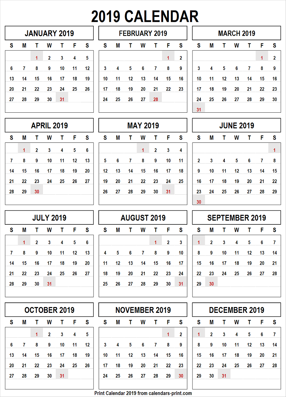 Calendar 2019 Png Free Download Template with Notes.