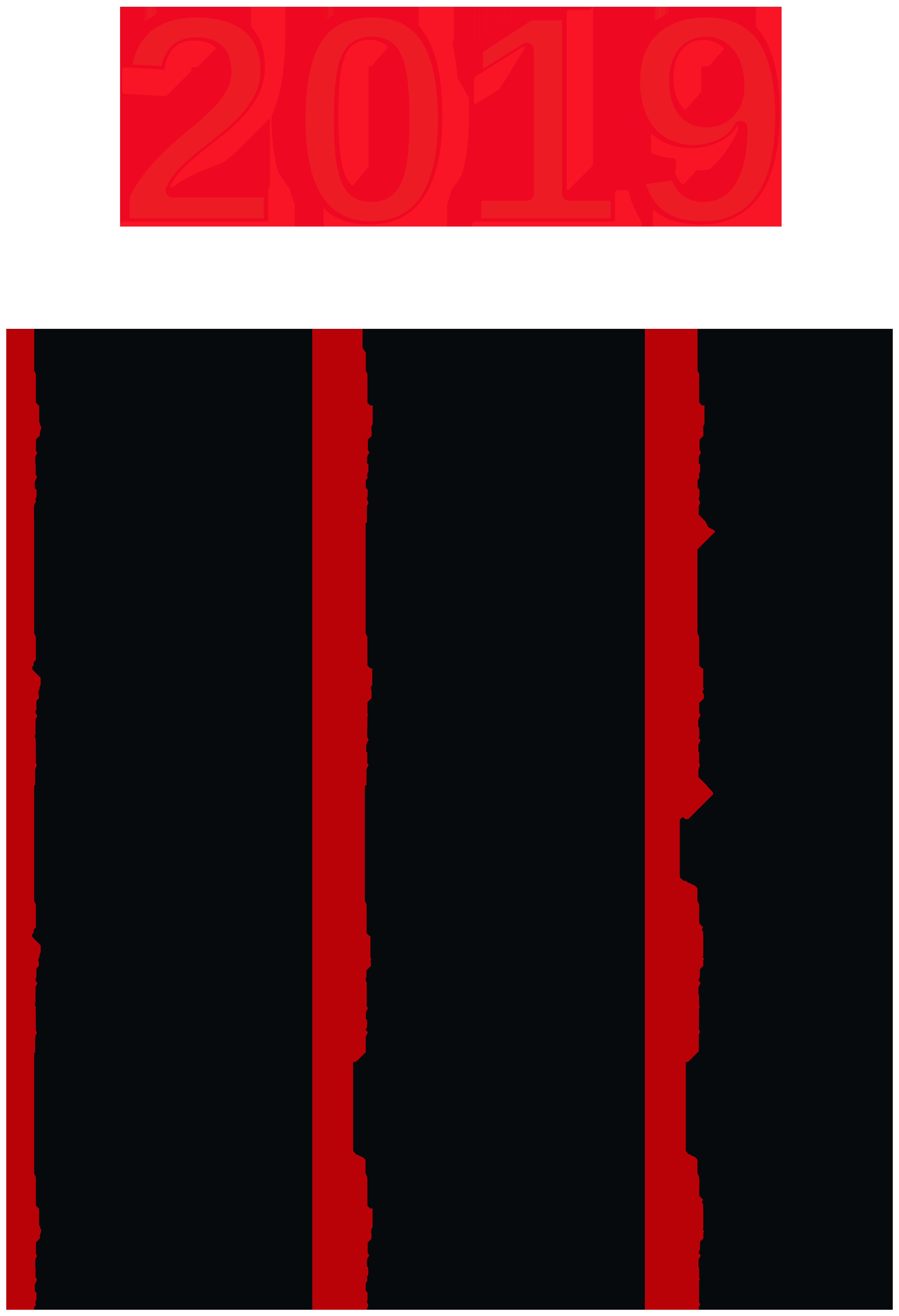 Transparent 2019 Calendar PNG Image.