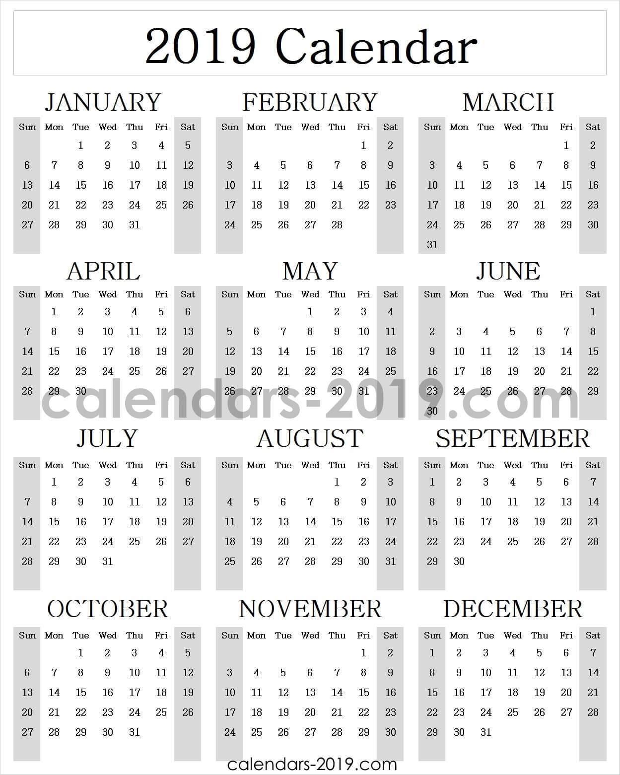Calendar 2019 Archives.