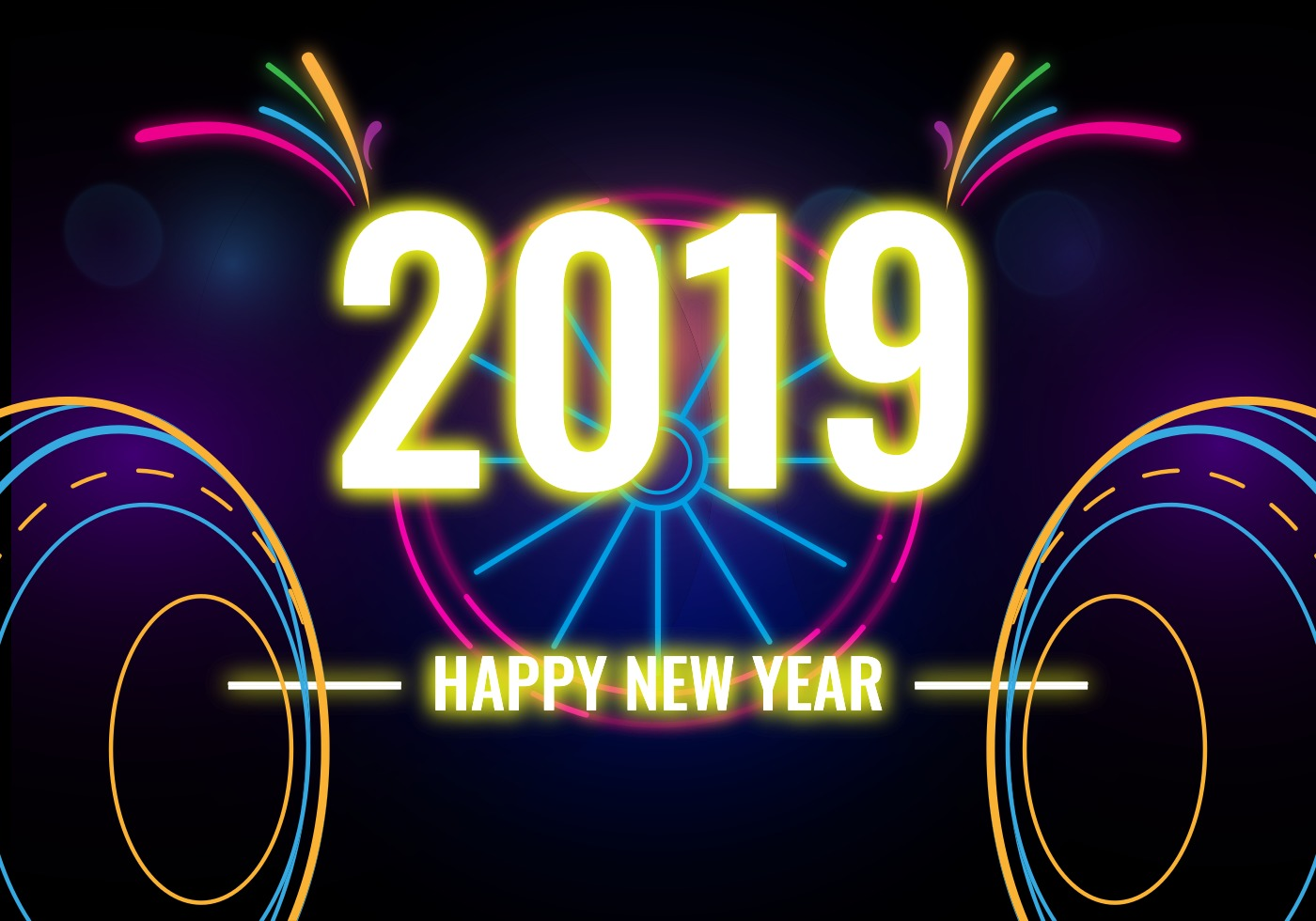 Download 2019 Celebration, Happy New Year Clipart #47300.