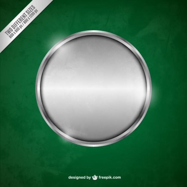 Silver metallic circle Vector.