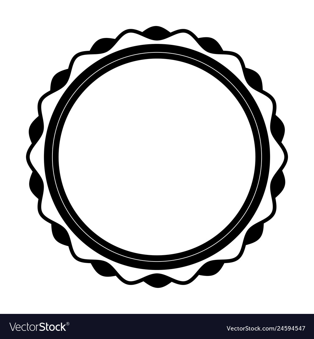 Circle stamp silhouette icon.