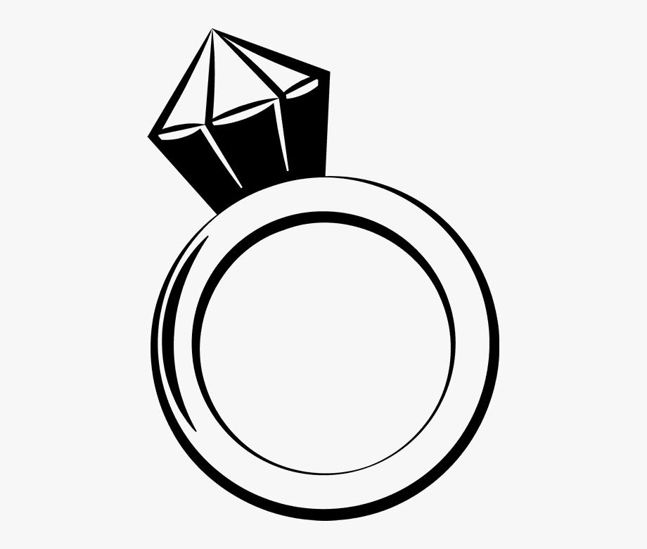 Diamond Ring Rubber Stamp.