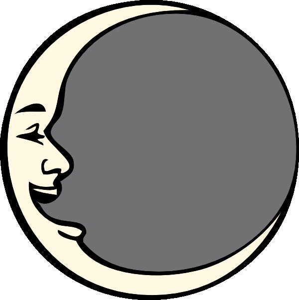 Vintage Moon Clip Art.