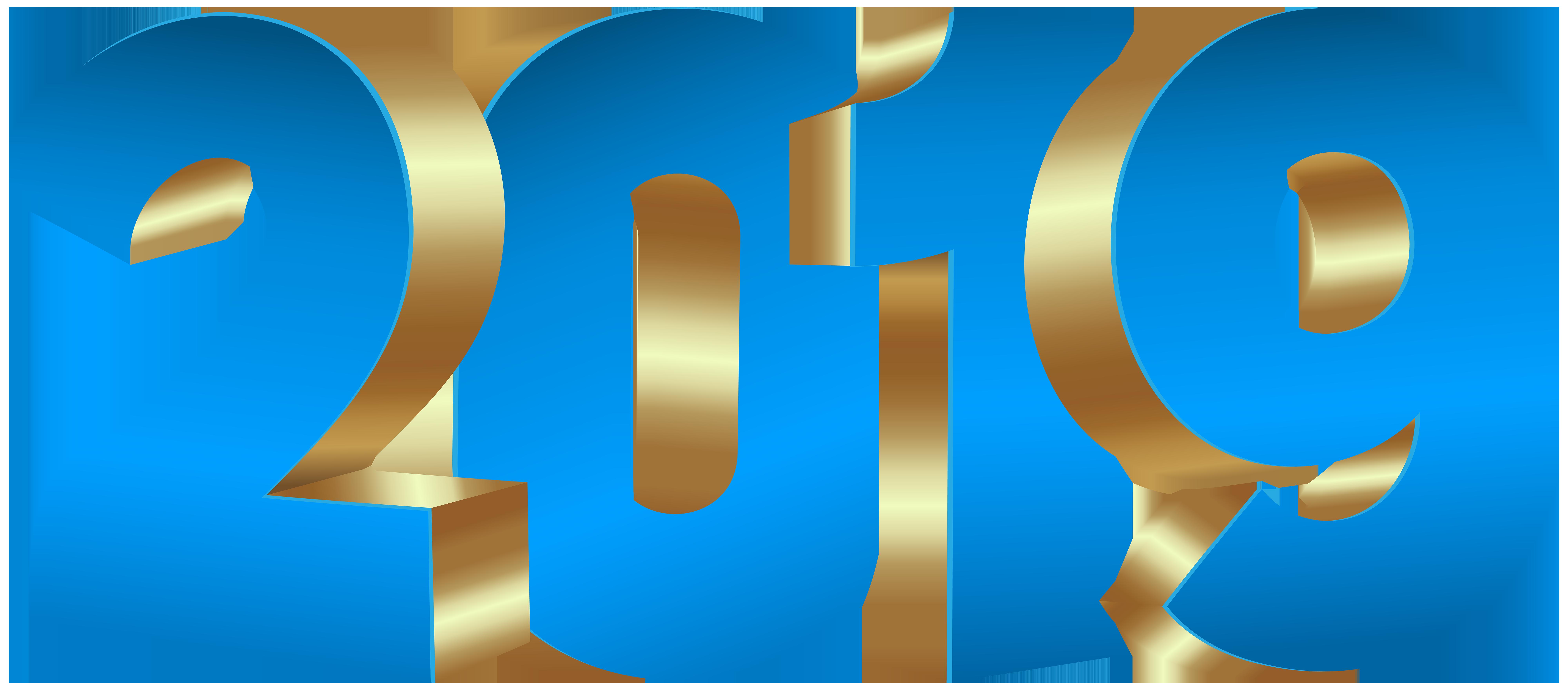 2019 Blue Gold PNG Clip Art.