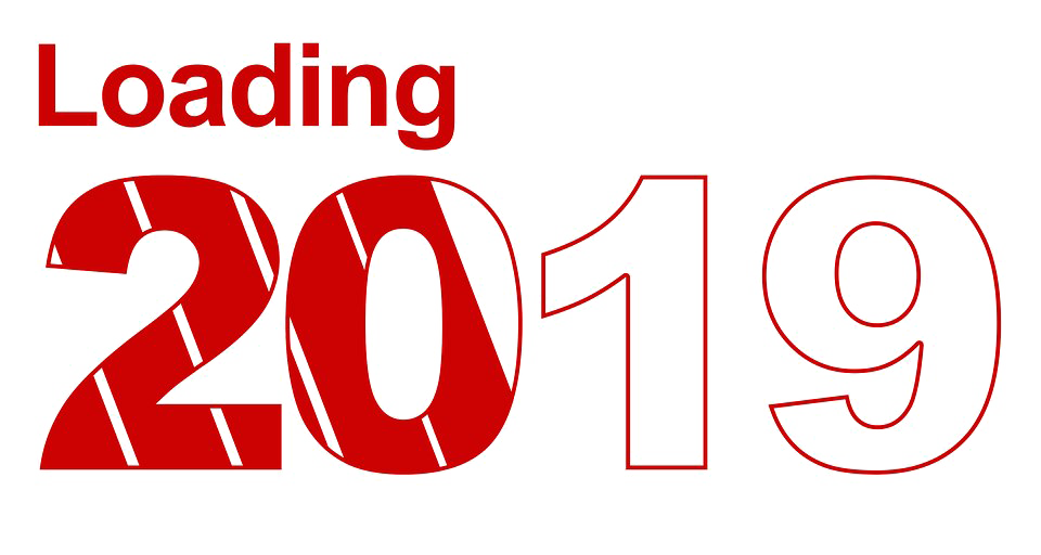 2019 new year text png clipart.