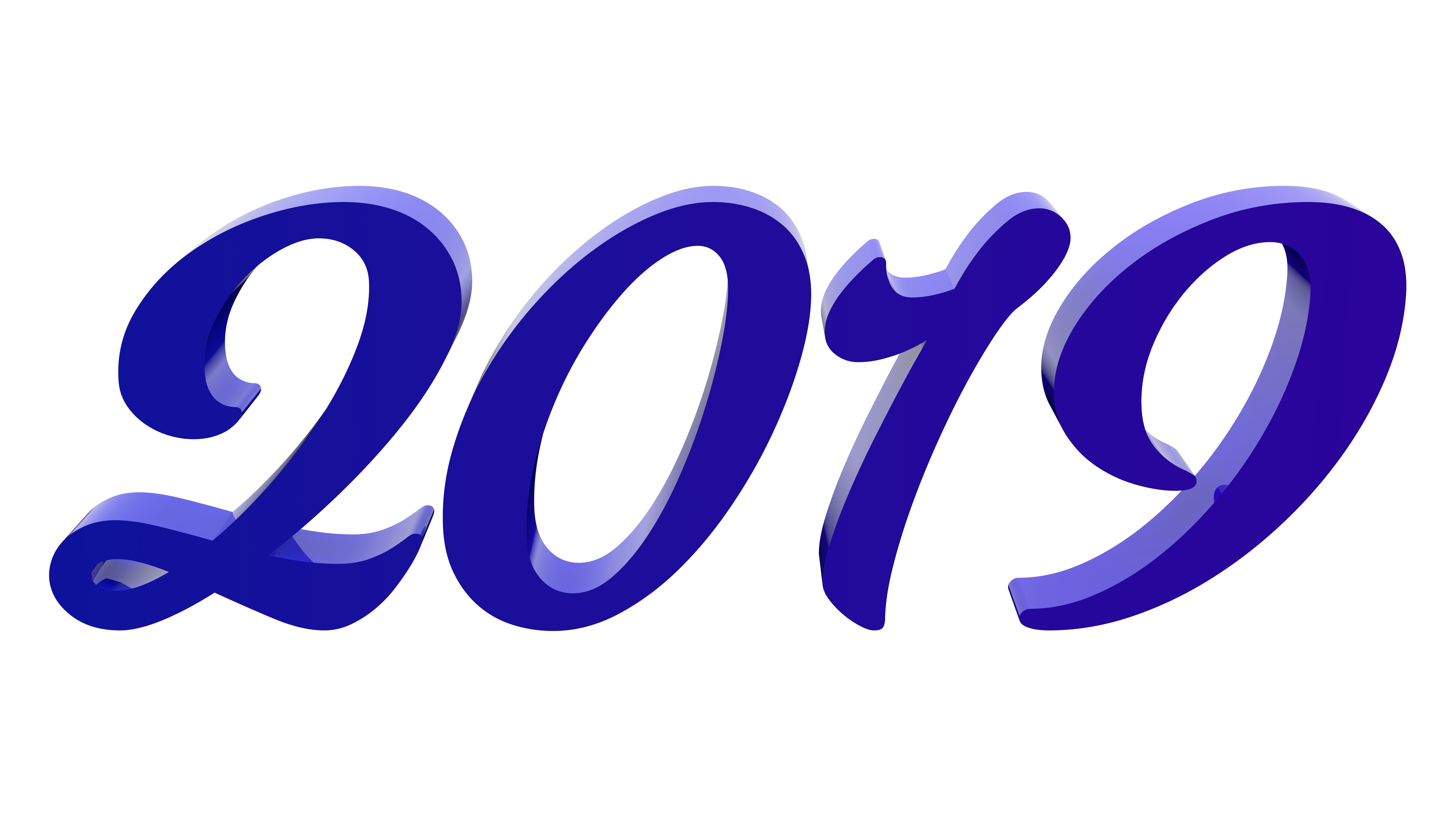 Blue 2019 PNG Clipart Image #47310.