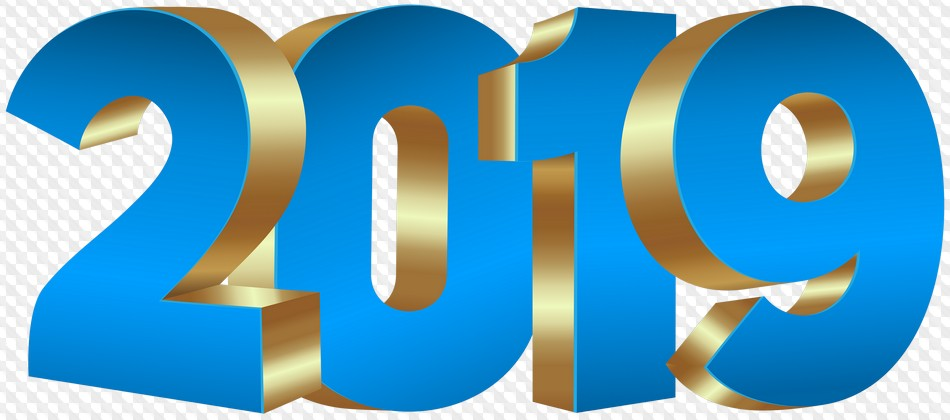 2019 on transparent background, 2019 free PNG images.