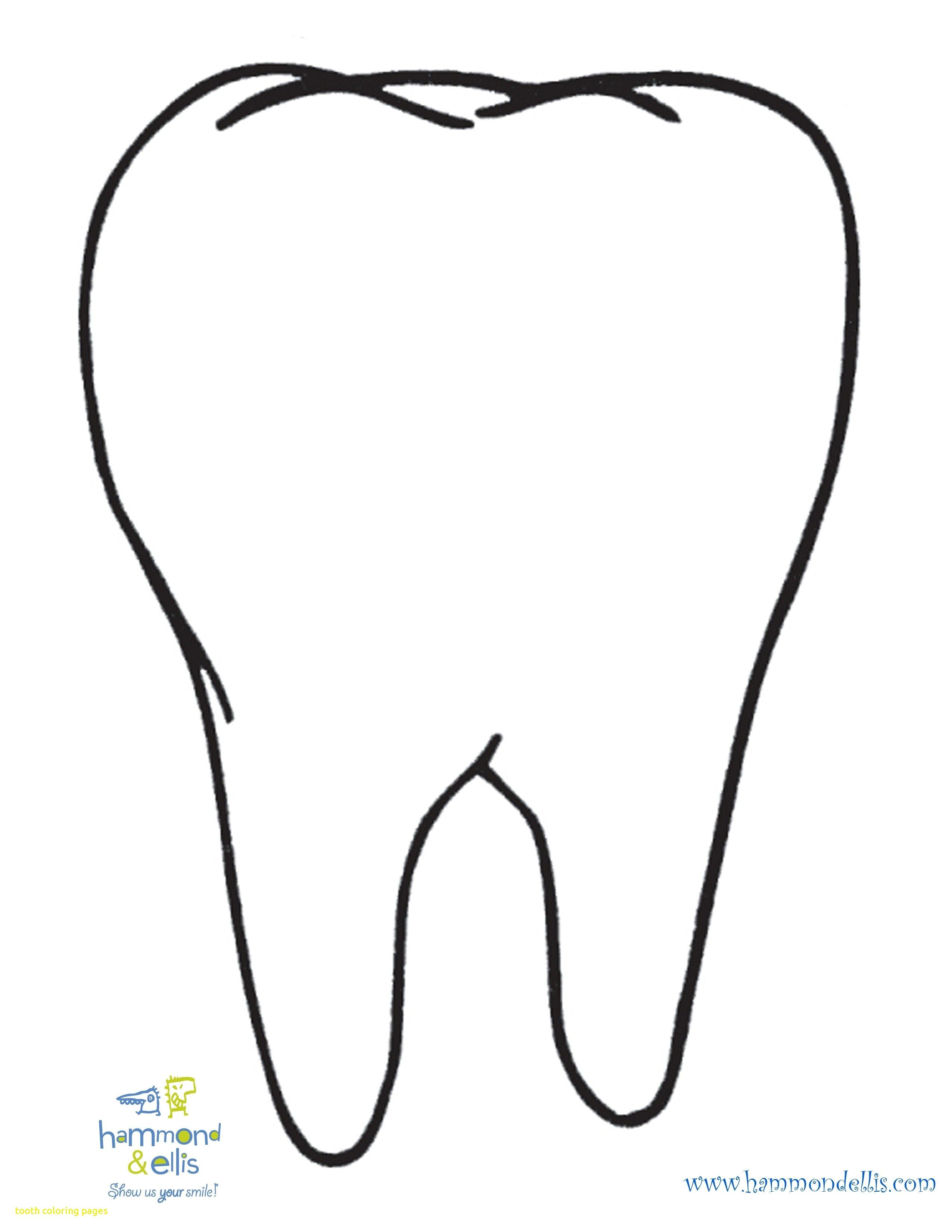 Tooth Coloring Page.