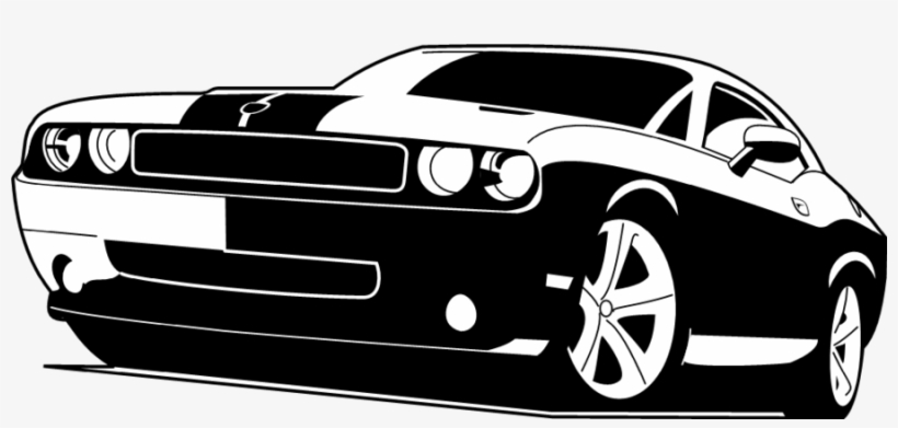 Muscle Car Silhouette Png.