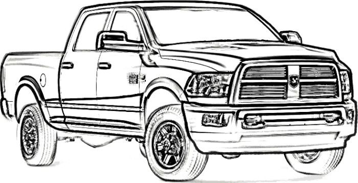 Dodge Ram 2500 drawing.