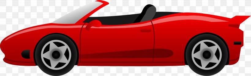Sports Car Ferrari Cartoon Clip Art, PNG, 7863x2391px, Car.