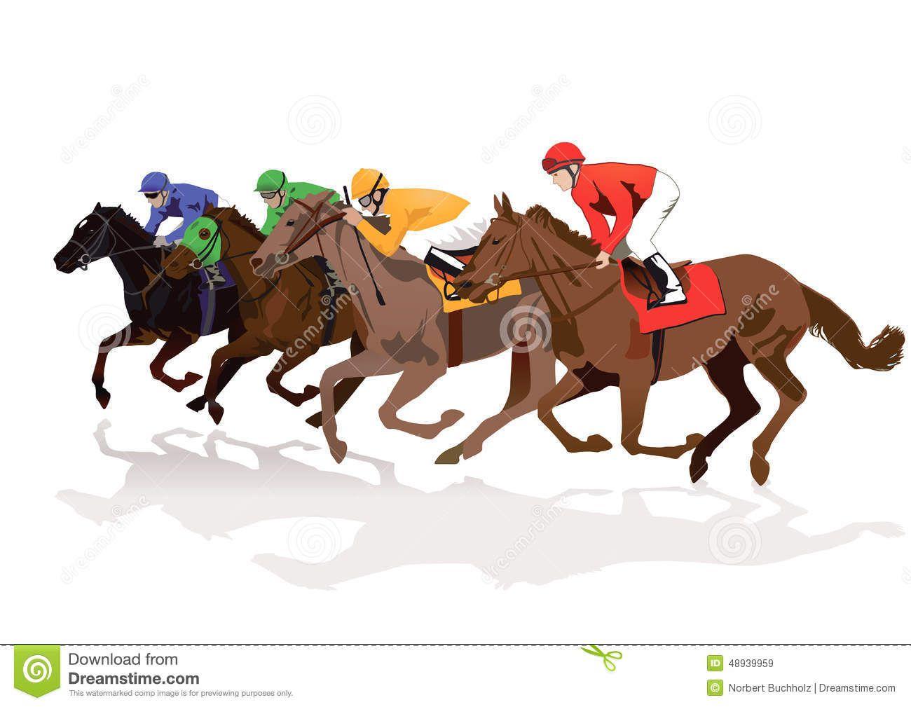 Racing horses clipart free.