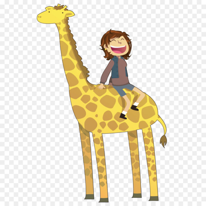 Giraffe Drawing Clip Art Riding Clipart Image Provided.