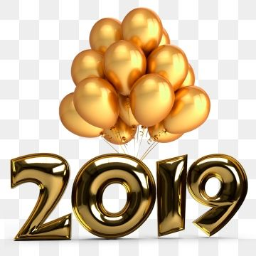 New Year 2019, New, Year, Happy PNG Transparent Clipart.