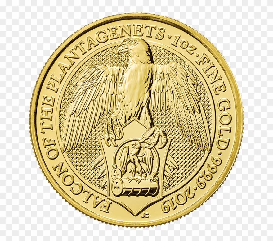 The Queen\'s Beasts 2019 Falcon 1 Oz Gold Coin.