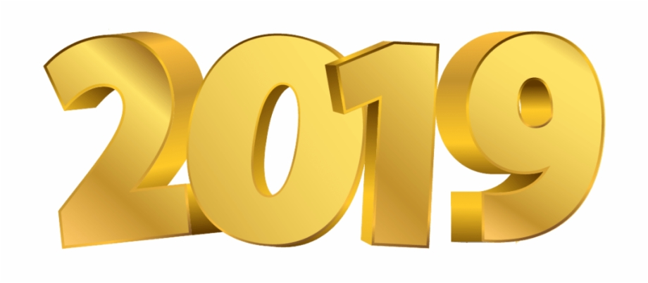 2019 Golden Digits Happy New Year Circle.
