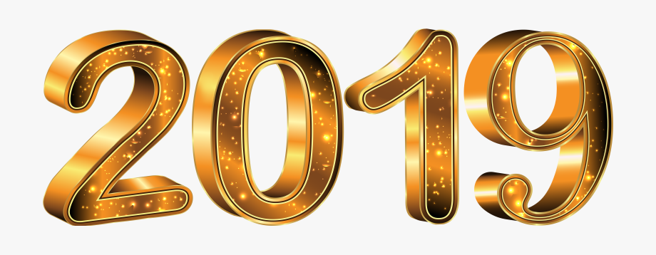 Happy New Year Gold Png.