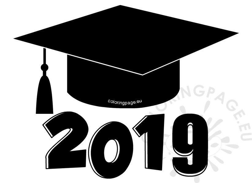 Graduation cap 2019 clip art.