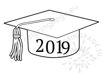 Class of 2019 Graduation Cap template.