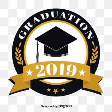 Circular Ribbon Graduation Cap 2019 Graduation Font.